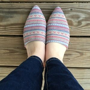 Rampage charliee Aztec slide mule flats